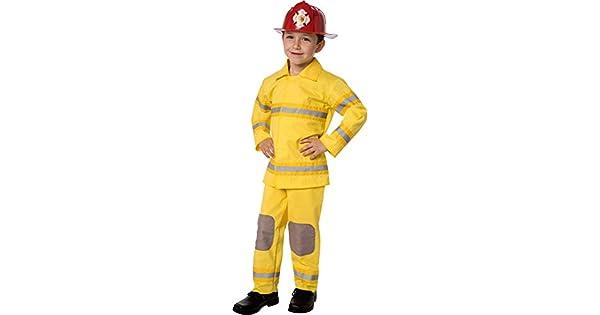 Amazon.com: Fireman Traje de rescate clásico para niño, M ...