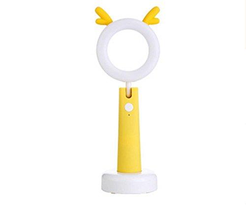 DMMSS Peculiare Touch Led Lampada USB Carico Occhio Di Apprendimento Lampada Da Tavolo Lampada Creativa Fumetto Nightside Comodino (90 X81X 274Mm), 3