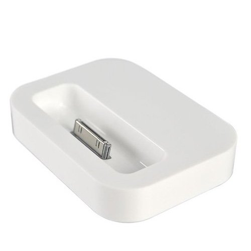 ock Cradle for Apple iPhone 4 with Audio Output (White) ()