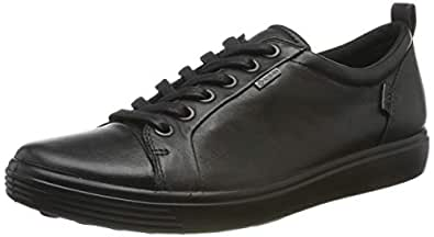 ECCO Women's Women's Soft 7 Gore-TEX Tie Sneaker, Black, 36 M EU (5-5.5 US)