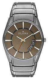 Skagen Men's Three-Hand Titanium Link Watch Skw6034 (Link Skagen Bracelet)