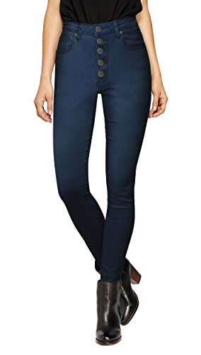 HyBrid & Company Womens Super Stretch 5 Button Hi Waist Skinny Capri-P43243SK-DARK WASH-1