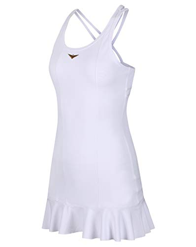 Bace Girls White Tennis Dress, Girl Golf Dress, Junior Tennis Dress, Golf Dress, Kids Golf Clothing, Glrls Sportswear, Designer Tennis Dress (White, 12-13 Years Old)