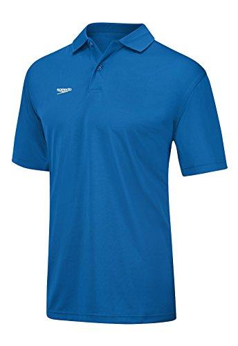 (Speedo 7550181 Mens Team Polo Shirt, Blue (420 - 004) - L)