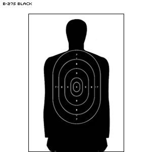 FULL SIZE B-27F CARDBOARD TARGET 100 PACK by Law Enforcement Targets