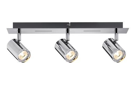 Silber 20 x 20 x 30 cm Paulmann 60184 Spotlight Strahler Rondo LED Balken 3x3,5W GU10 Chrom 230V Metall Strahlerbalken