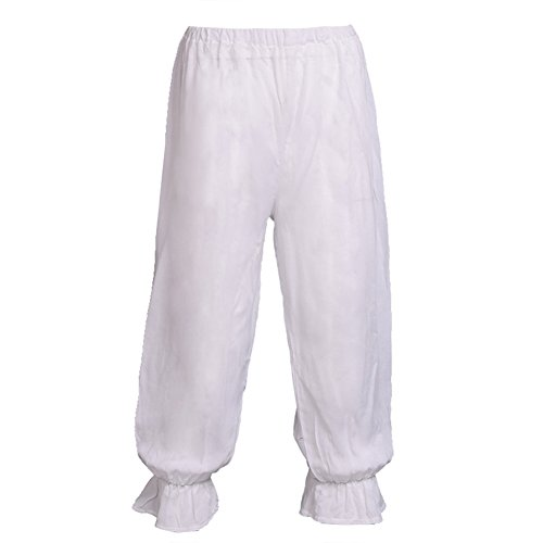 BLESSUME Victorian Lady Pantaloons White Bloomers (Wasit: About
