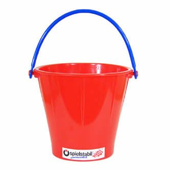 Spielstabil Large Sand Pail - Holds 2.5 Liters - Sold Individually - Colors Vary (Made in Germany) -