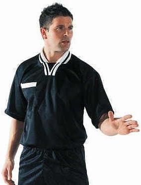 Traje de árbitro de hockey, rugby o fútbol con pantalones cortos, camiseta de manga corta y calcetines