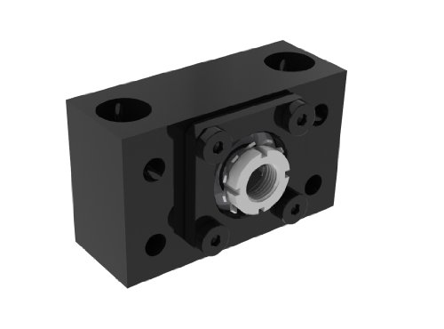 Helix EZM-3010-23 EZEE-MOUNT Universal Double Angular Contact Bearing Support With Motor Mount, NEMA Frame Reference 23, For 10mm Nominal Size Bearing - Frames Angular