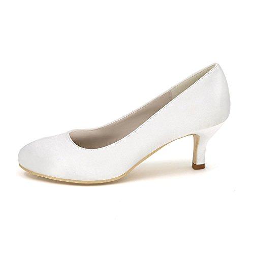 L@YC Frauen - High - Heels Schuhe Seide Große Yards Hochzeit Schuhe Party Hochzeitskleid Multi - Color 4852 Blue