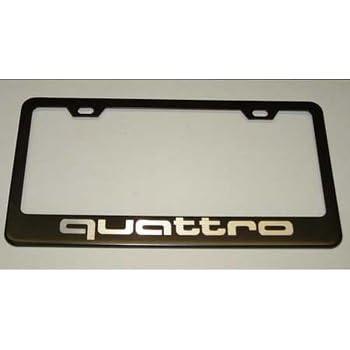 Amazon.com: Audi Quattro Licencia Marco de la placa: Automotive