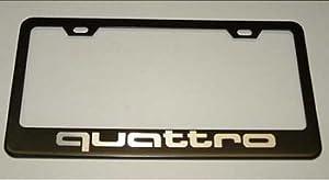 Audi Quattro Black License Plate Frame & Amazon.com: Audi Quattro Black License Plate Frame: Automotive