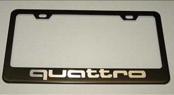 quattro black license plate frame - 4
