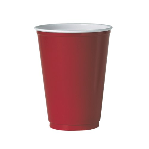 SOLO M22R Polystyrene Cold Cup, 12 oz. Capacity, Red (Case of 1,000)