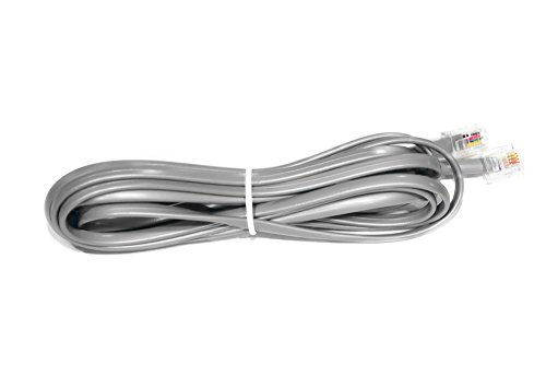 Cablelera Straight Modular Telephone Cable, RJ11 6P4C, Gray Color(ZNWN4555-14) ()