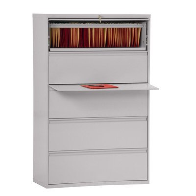 Sandusky Lee LF8F425-05 800 Series 5 Drawer Lateral File Cabinet, 19.25