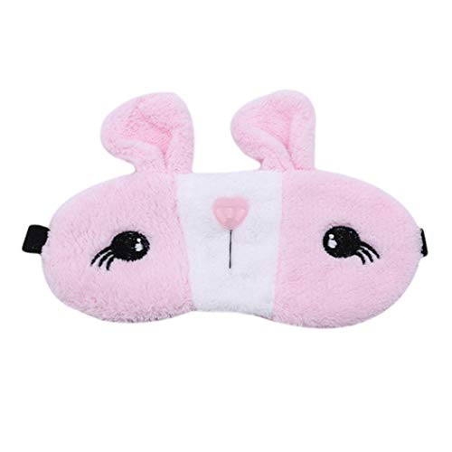 LZIYAN Sleep Eye Mask Lovely Cartoon Rabbit Eye Mask Portable Eyepatch Cute Blocks Out Light Blindfold For Home Travel,Pink by LZIYAN (Image #1)