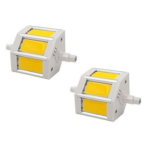 MD Lighting R7S 78mm 5W COB SMD LED Flood Light Spot Corn Light Lamp Bulb No-dimmable Warm White 3000K LED Corn Light J Type Double Ended 40W R7S J78 Halogen Bulb Replacement,AC 85-265V, 2 Pcs ()