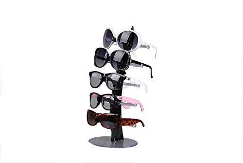 tinxi® Brillenregal für 5 Paar Brillen Organizer Sonnenbrille Ständer Brillenablage Lesebrille Halter Sonnenbrillenablage 35 x 16 cm