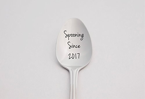 Spooning Since - Personalized Spoon - Boyfriend Gift - Anniversary Gift - Wedding Gift - Engraved Tea Spoon - Coffee Spoon