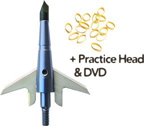 """Swhacker 100gr Xbow Broadhead 1.75"""" Cut w/Practice Head & DV"""