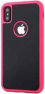 غطاء هاتف مضاد للجاذبية مع عصا سحرية لهاتف آيفون X وردي