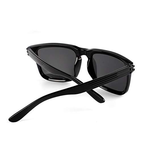 Frame los Sakuldes Gafas Bright Sol protección Sol Ultravioleta Black Lens polarizadas de Hombres Vintage la de Black Lens Color Gafas Black de de Black Frame qqTRxwrOd