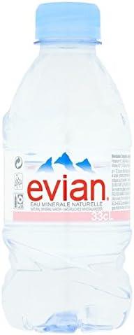 Evian Natural Mineral 330 ml de agua (Pack de 24 x 330 ml): Amazon ...