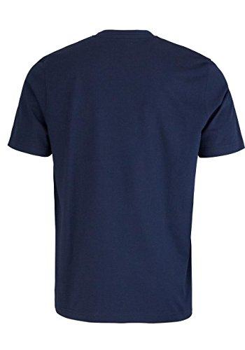 CASAMODA T-Shirt Rundhals reine Baumwolle mit Druck nachtblau