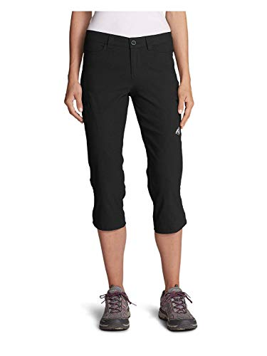 Eddie Bauer Women's Guide Pro Capris, Black Regular 8
