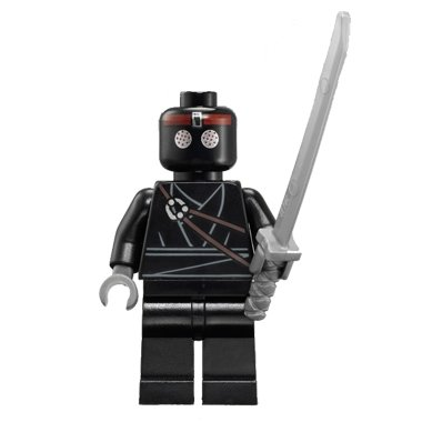 LEGO Teenage Mutant Ninja Turtles Theme Minifigure: Foot Soldier with Sword, Black Version