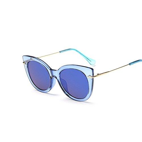 Tocoss (TM) Mode pour femmes surdimensionné œil de chat Lunettes de soleil femme vintage de luxe Design de marque Big Cadre Lunettes de soleil CatEye femelle Oculos UV400, léopard