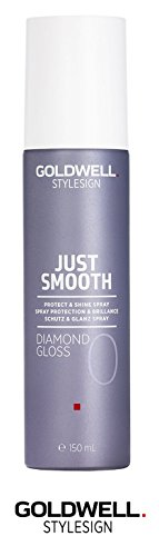 Goldwell Stylesign Just Smooth Diamond Gloss 0 Protect & Shine Spray- 4 oz (with Sleek Steel Pin Tail Comb)