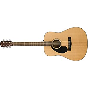 Fender CD-60S Left-Handed, Natural, Walnut Acoustic Guitar