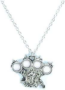 Silver men necklace with iron fest pendant