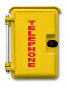 Outdoor Telephone Enclosures (Yellow Heavy-Duty Outdoor)