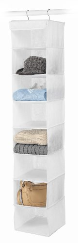 Whitmor 8 Section Accessory Shelves - 8 Organizer Hanging Shelf