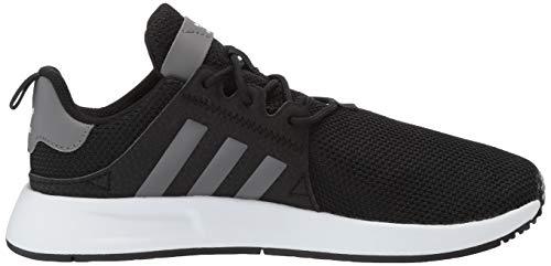 adidas Originals Unisex X_PLR EL Running Shoe, Black/Grey/White, 3.5 M US Big Kid