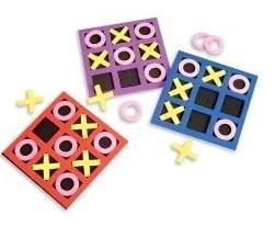 Rhode Island nouveauté 5 « x 5 » Kids mousse Tic Tac Toe (1 douzaine)