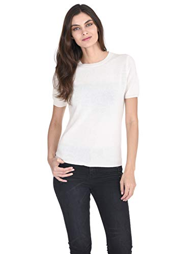 State Cashmere Women's 100% Pure Cashmere Crew Neck Short Sleeve Sweaters ()