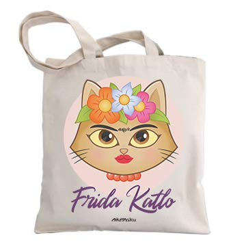 Okemaku - Bolsa Tela Mensaje: Frida Katlo. Parodia Kahlo ...
