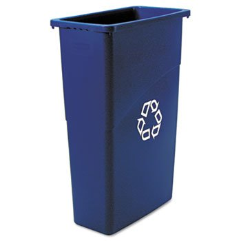 Rubbermaid Slim Jim Waste Container, 87 L - Blue by Rubbermaid Commercial Products