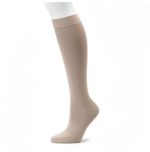 Compression Socks Pain Relief Calf Leg Foot Support Stockings S-XL Men & Womens (S/M, Nude)