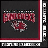 Pack of 240 NCAA South Carolina Gamecocks 2-Ply Tailgating Party Lunch Napkins