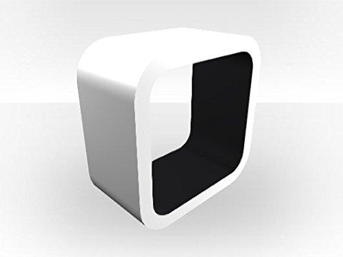 Bianco esterno Cube acquario supporto nero Matt