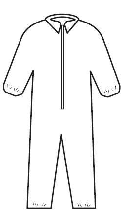 Sammons Preston General Purpose Coverall XXX Large White Disposable NonSterile