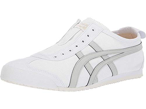 Onitsuka Tiger by Asics Unisex Mexico 66¿ Slip-On White/Light Sage 10 Women /+D409:D437 8.5 Men M US