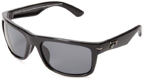 Pepper's Stockton MP508-1 Polarized Wrap Sunglasses,Shiny Black,One - Women Stockton