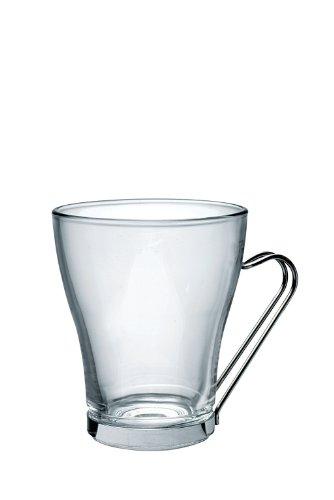 Bormioli Rocco Oslo Multipurpose Cups with Metal Handle, Clear, Set of 24 by Bormioli Rocco